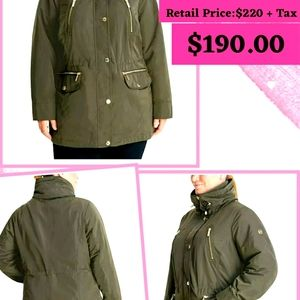 😍MICHAEL KORS Hooded ANORAK Jacket.